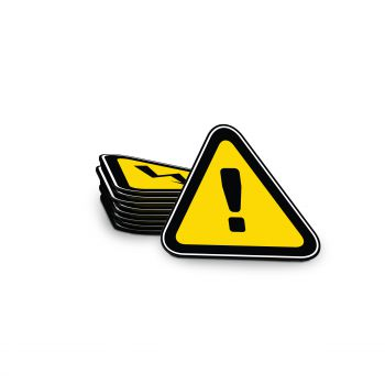 Warning Magnet Triangle 150 x 135 mm